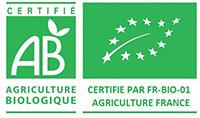 Agriculture biologique AB - Certifié par FR-BIO-01 Agriculture France
